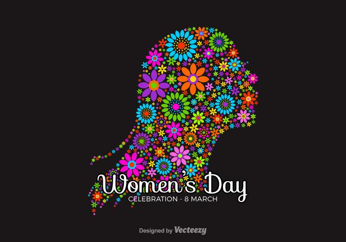Free Women's Day Vector Background