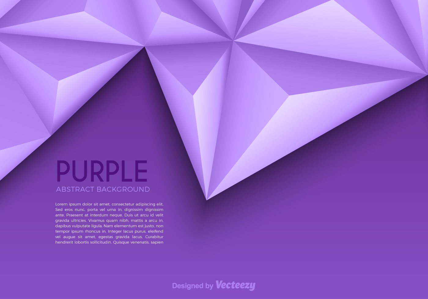 Free Purple Abstract Triangle Vector Background Download