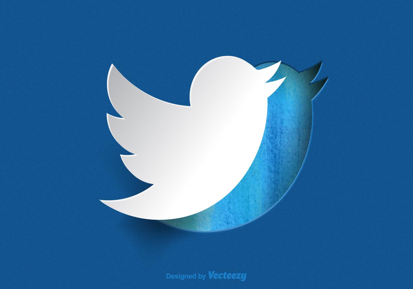free paper twitter bird vector download free vector art