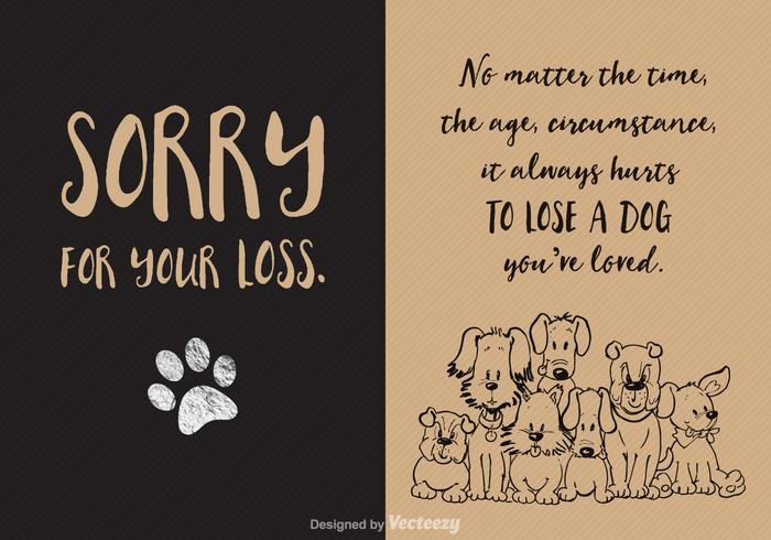 Free Loss Of Dog Vector Card Download Free Vector Art Stock