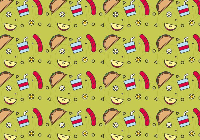 Free School Lunch Vector Pattern #6