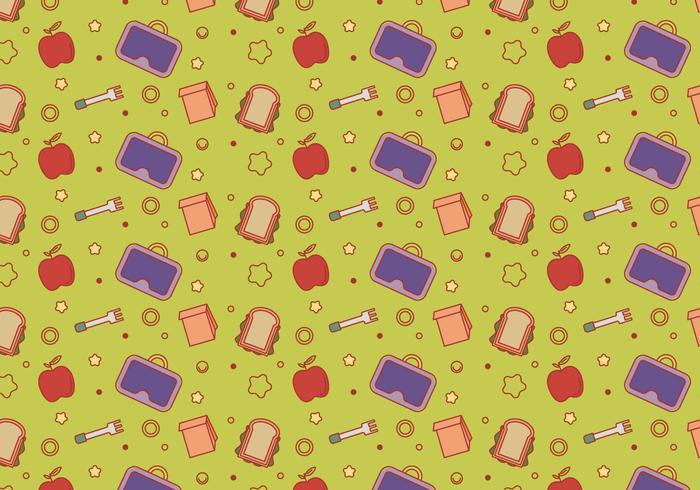 Free School Lunch Vector Pattern #5