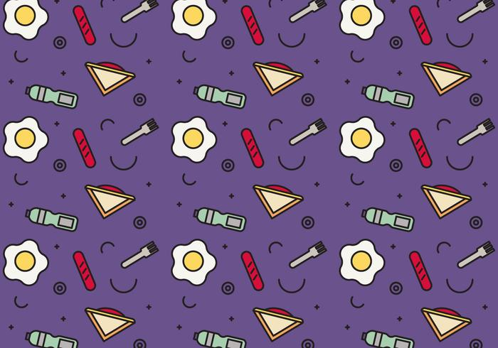 Free School Lunch Vector Pattern #4