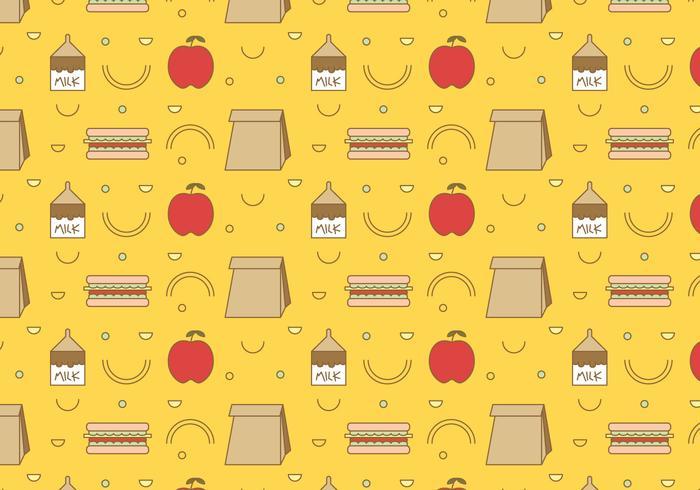 Free School Lunch vector patrón # 3
