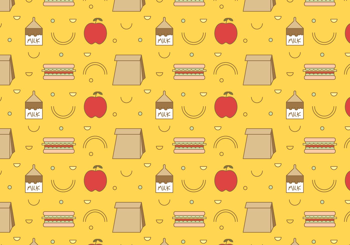 School Lunch Vector Pattern 3 Download Free Vector Art