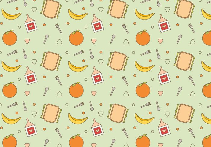 Free School Lunch Vector Pattern #2