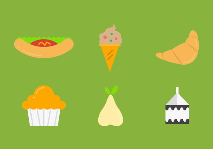 Free School Lunch Vector Icons #4