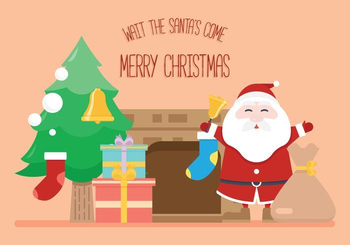 De komst van de kerstman! vector
