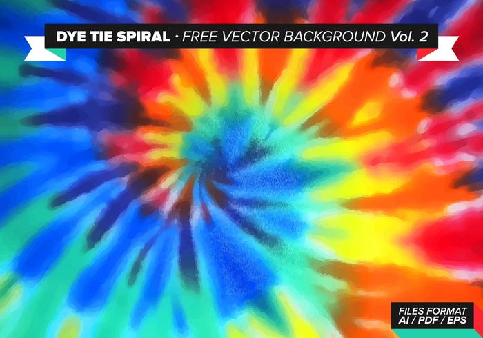 Tie Dye Spiral Free Vector Background Vol. 2