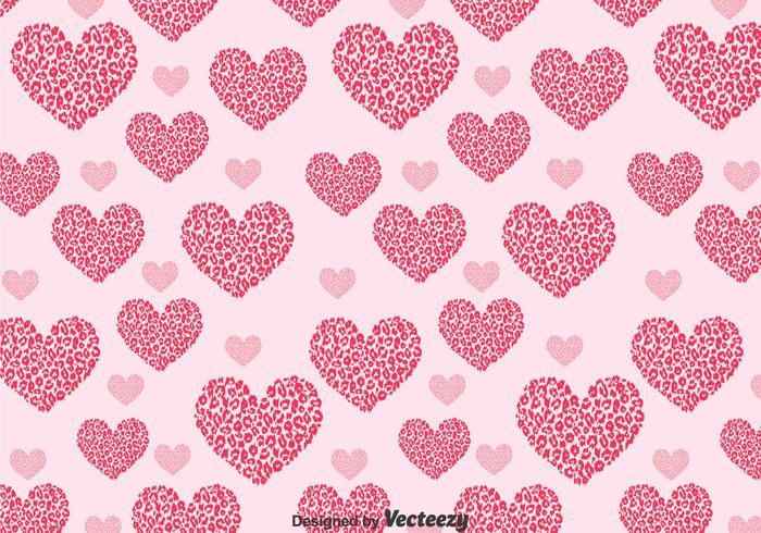 Love Shape Leopard Pattern vector