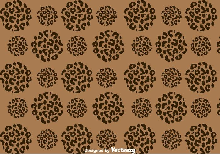 Leopard Pattern On Circle Shape