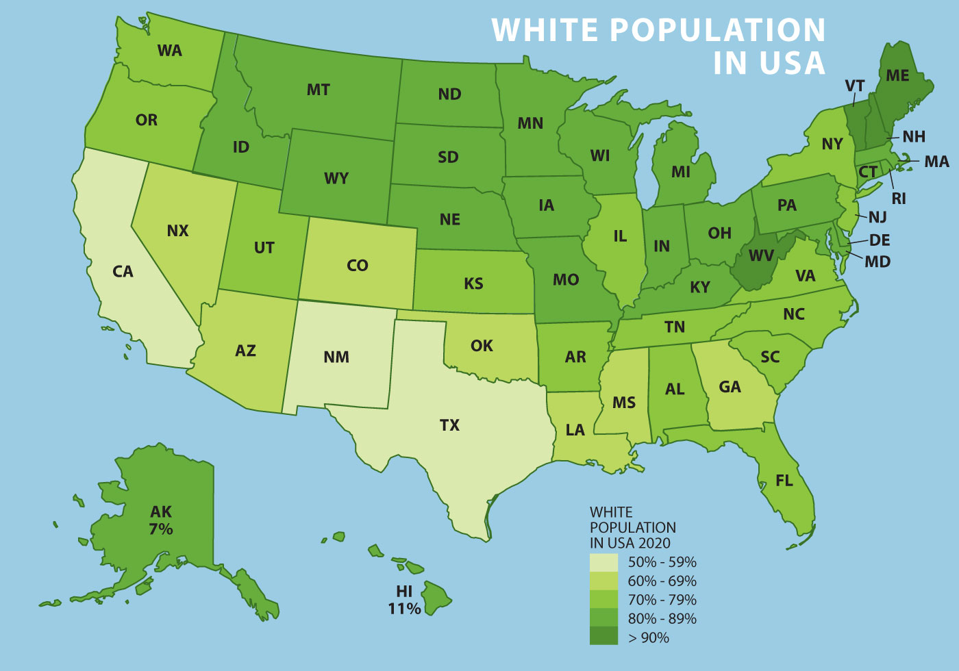 White Population In US...