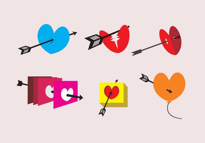 Pfeil durch Herz-Illustrationen