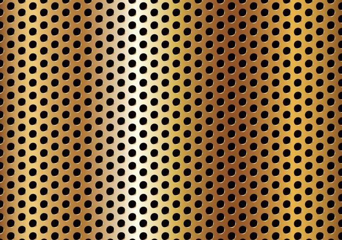 Free Circle Perforated Golden Metal Vector
