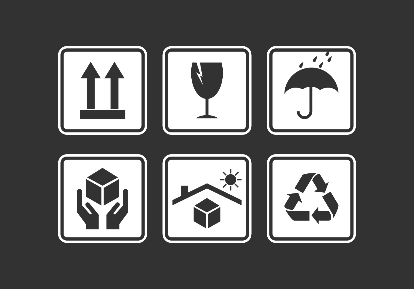 Vector Handle with Care Sticker Pack - Download Free Vector Art, Stock ...
