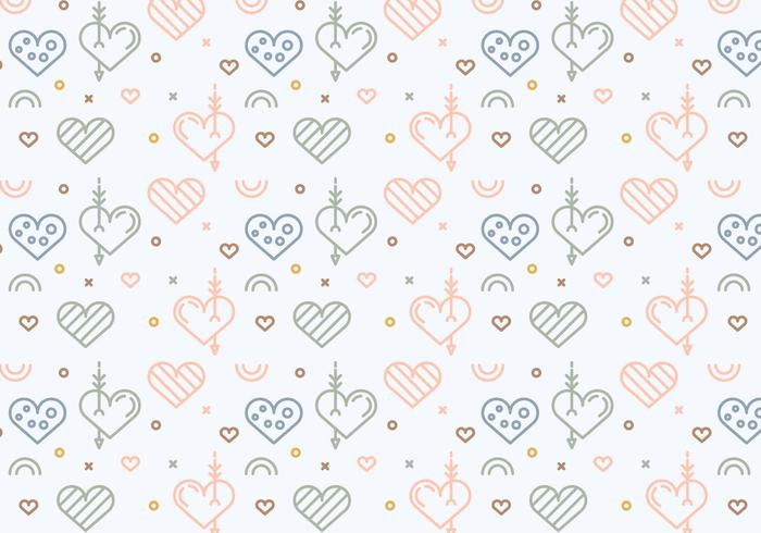 Free Heart Vector Pattern # 4