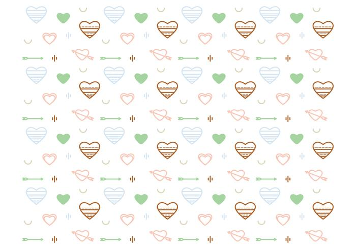 Free Heart Vector Pattern #2