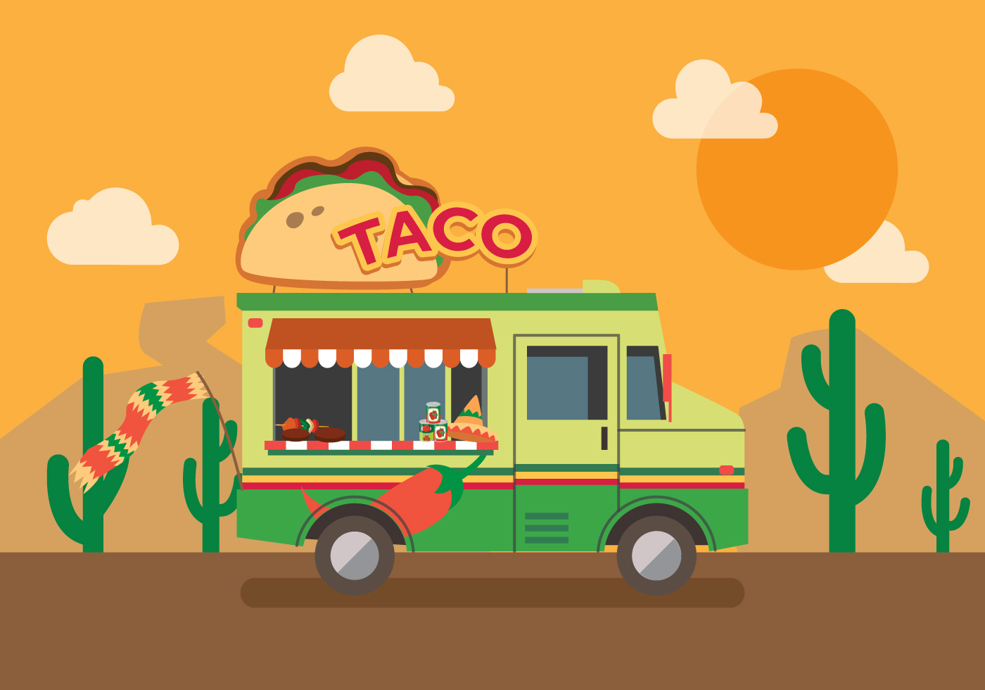 vector taco truck download free vector art  stock Backpack Clip Art packed lunch box clipart