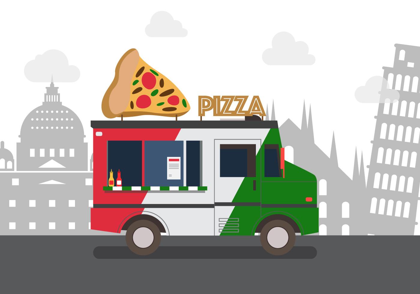 Vector pizza truck download free vector art stock for Food truck design app