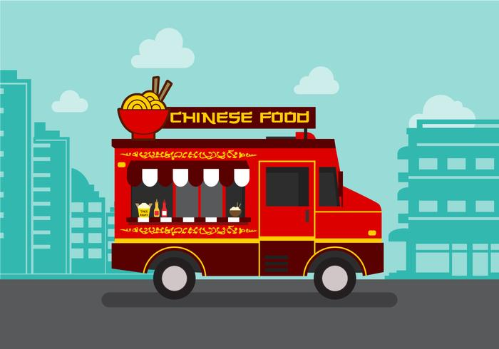 Vector  Chinesefood Truck