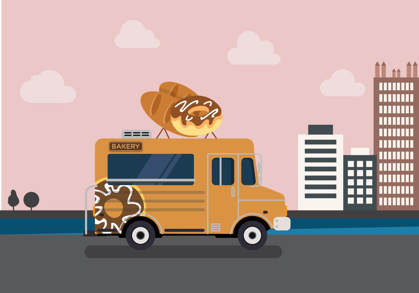 Vector Bakery Truck Download Free Vectors Clipart