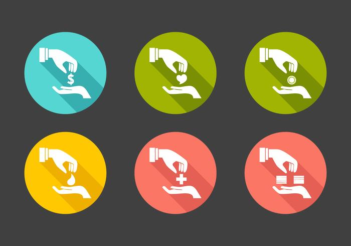 Vector Donation Icon Set