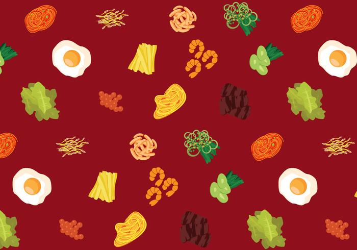 Vector Korean Food Pattern