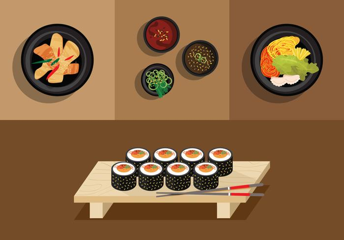 Vector Gimbap Korean Food