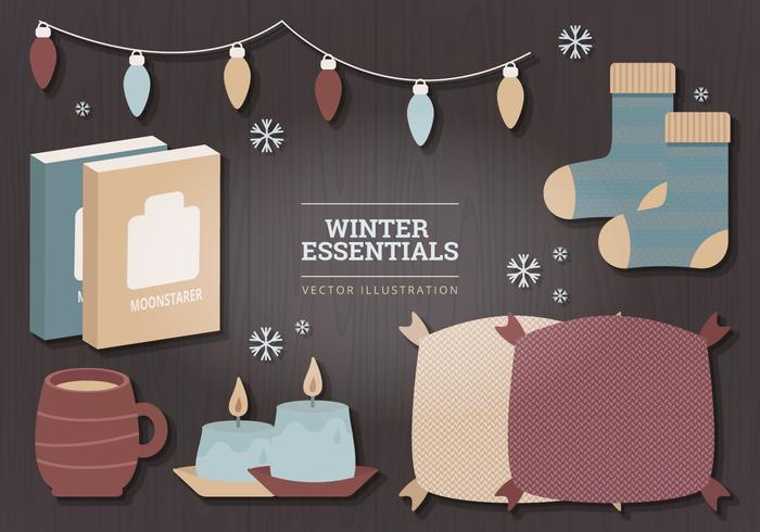 Winter Essentials Vector Illustration