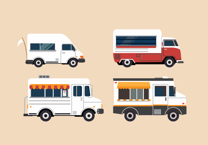 Free Vector Food Truck Illustration Set
