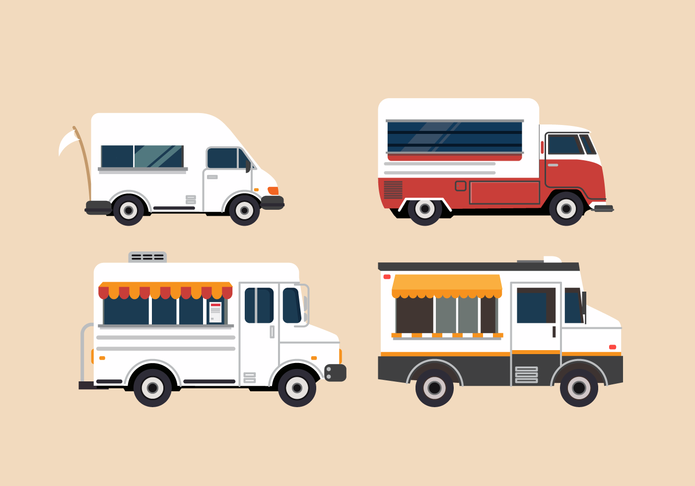 Free Vector Food Truck Illustration Set - Download Free ...
