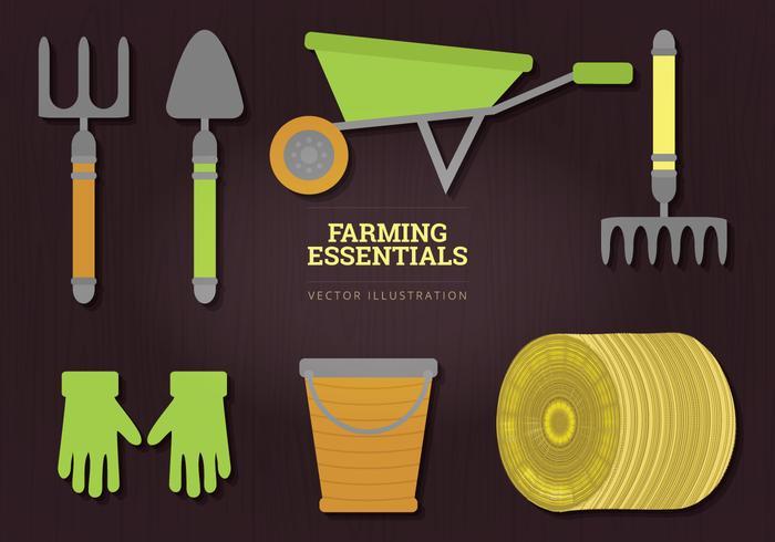 Jordbruk väsentliga vektor illustration