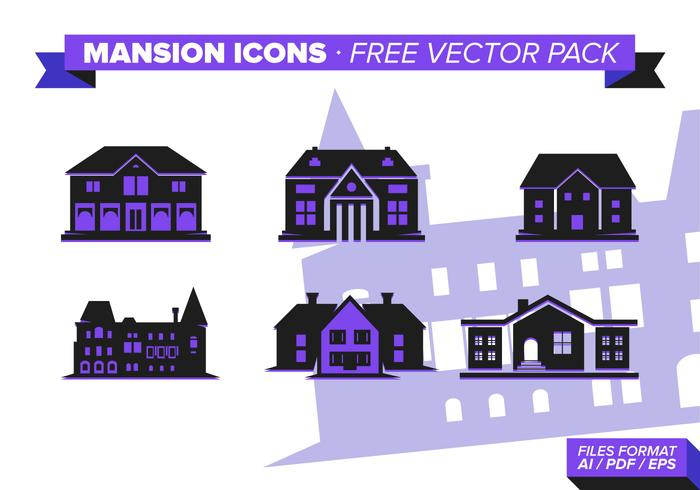 Mansion Icon s Free Vector Pack