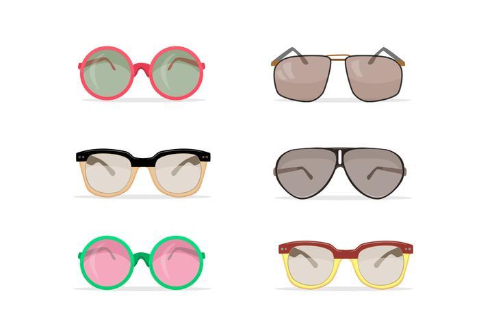 Old school sunglasses vectors