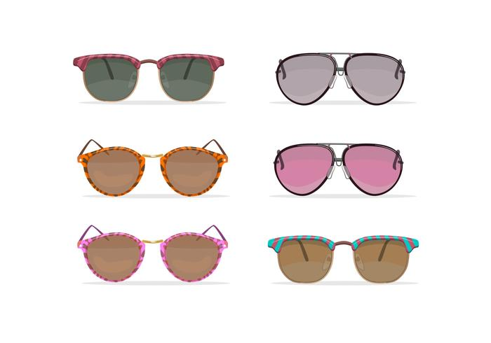 Oldschool sunglasses vectors