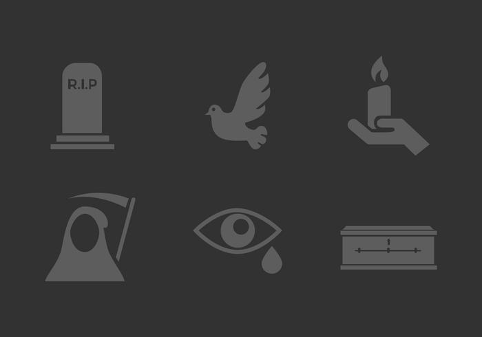 Vector Mourning Icon Set