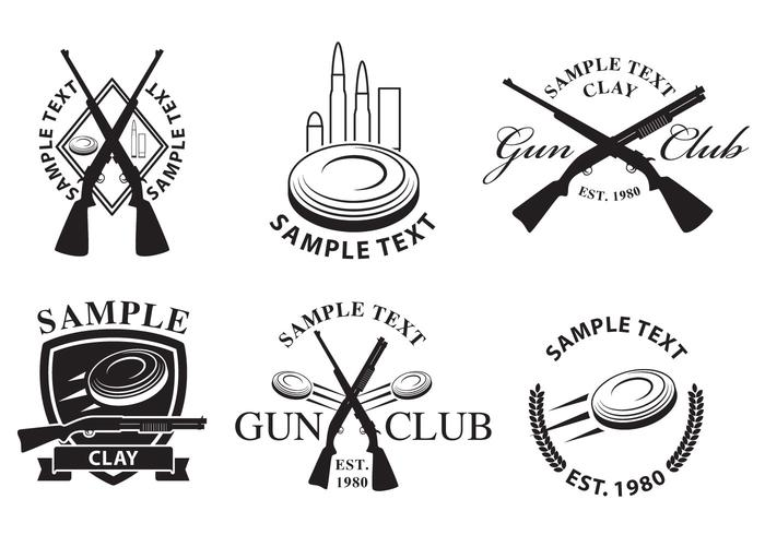 gun club logos download free vector art stock graphics