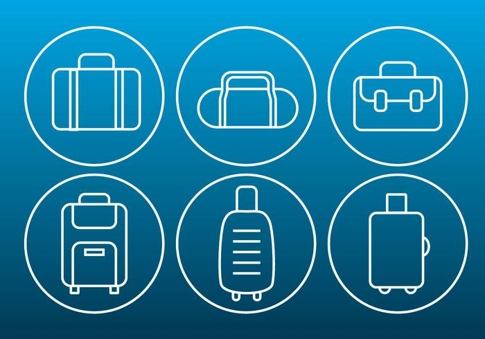 Vector Bag Thin Outline Icons