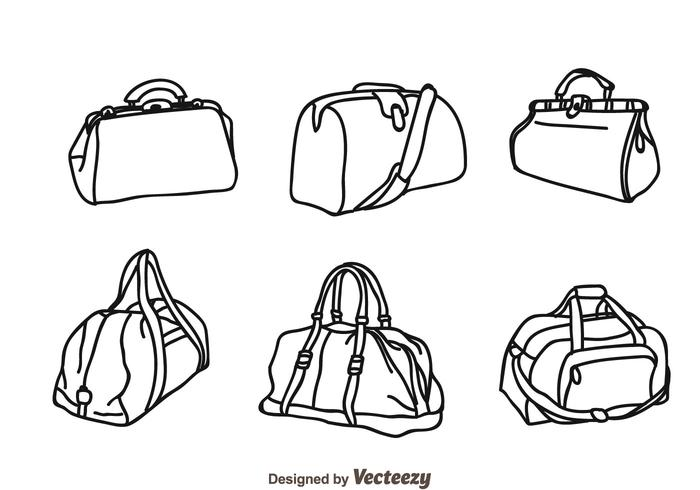 Vector Bag Isolated Icons