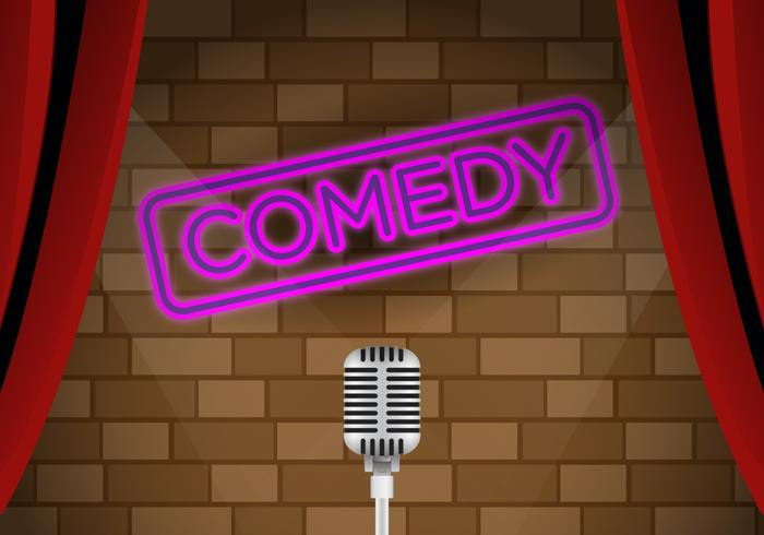 Vector Comedy Club Stage Download Free Art Stock
