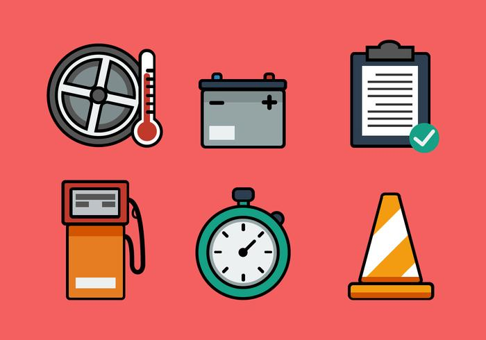 Vector Pit Stop Icon Set