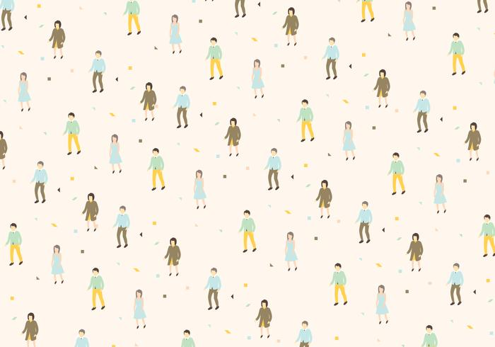 Man and Woman Pattern Vector
