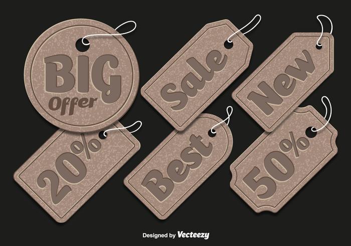 Étiquettes de vente en carton