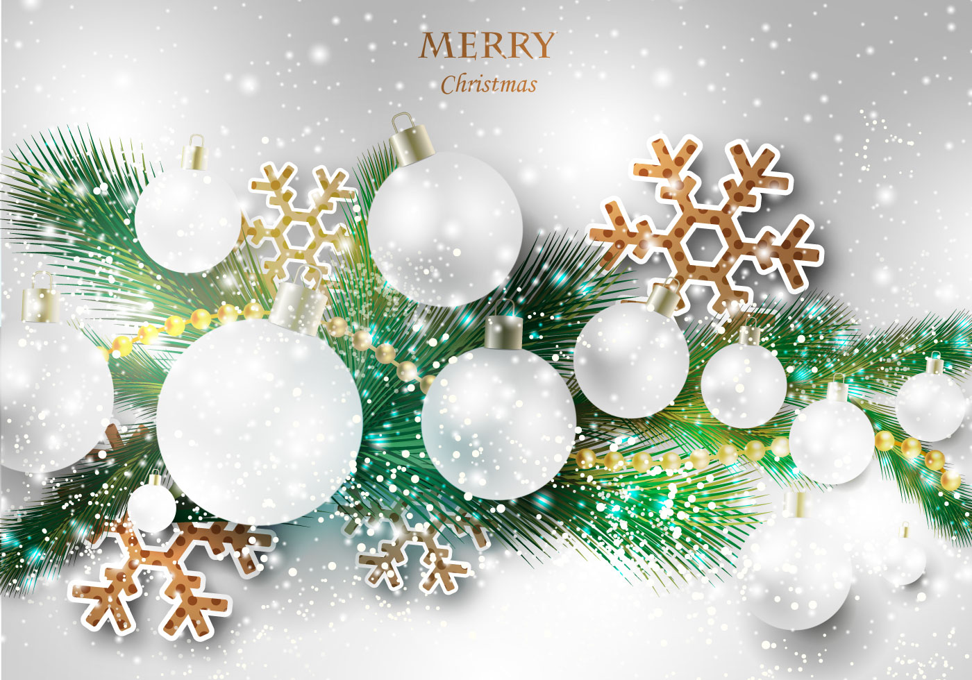 Free Merry Christmas Vector - Download Free Vector Art, Stock ...