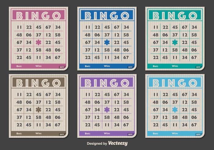 Cartões clássicos de Bingo