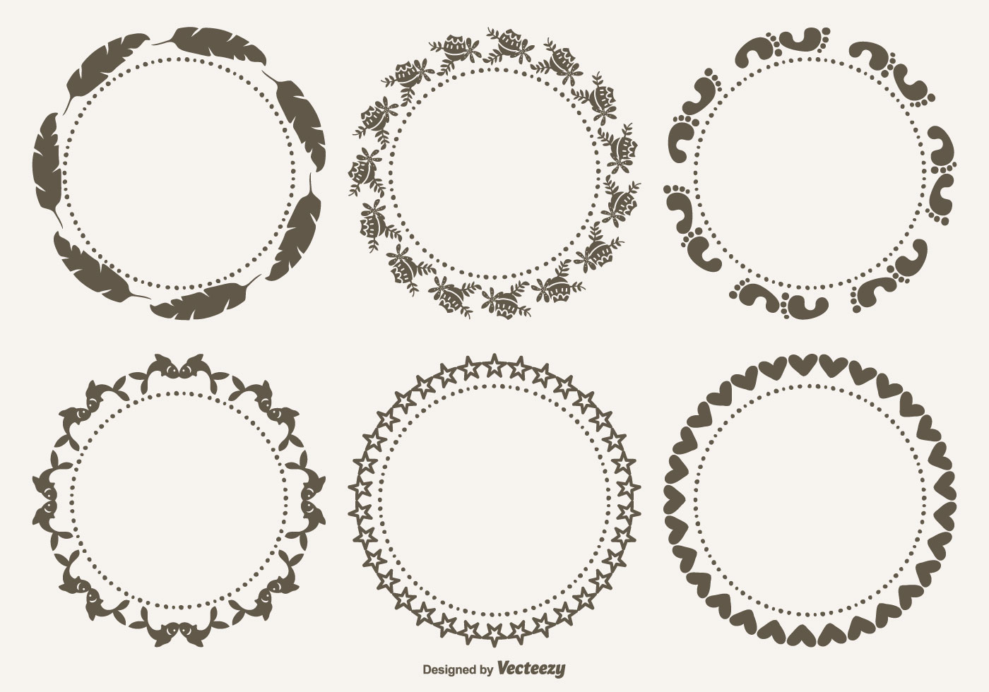Glasses Frame Vector : Cute Decorative Frames Set - Download Free Vector Art ...