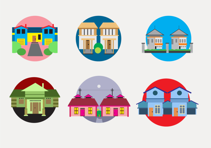 Colorful Townhomes vector
