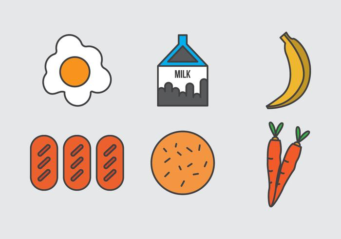 Free School Lunch Vector Icons #1