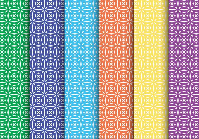 Creative Star Shape Vector Pattern