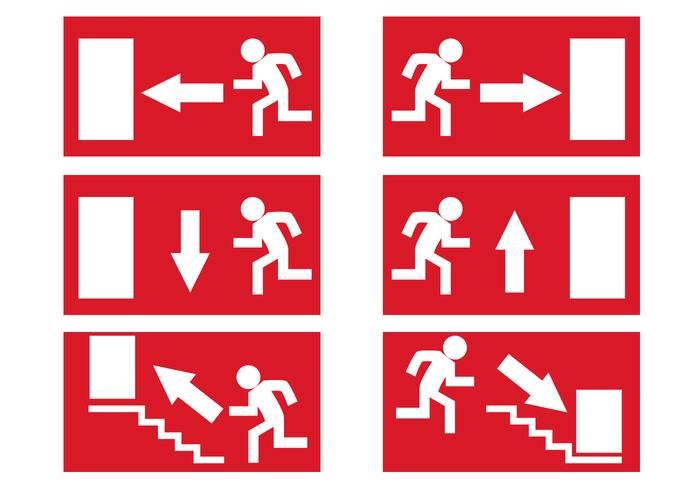 Free Emergency Exit Signs Vector
